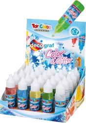 Picture of TOY COLOR magic glitter glue 25 ml - stand 30 pcs