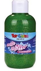 Slika od TOY COLOR TEMPERA GLITTER ZELENA 250 ML