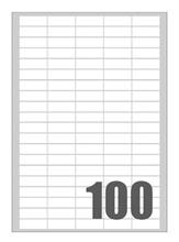 Slika od SAMOLJEPLJIVE etikete Megastar 37x14 mm – 100 na listu