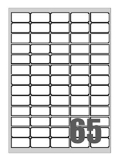 Picture of Self-adhesive labels Megastar 38x21,2 mm – 65 per sheet