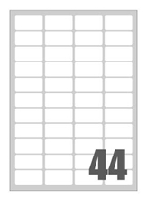 Slika od SAMOLJEPLJIVE etikete Megastar 47,5x25,5 mm - 44 na listu