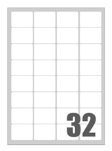 Slika od SAMOLJEPLJIVE etikete Megastar 47,5x35 mm – 32 na listu