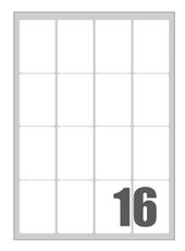 Picture of Self-adhesive labels Megastar 47x70 mm – 16 per sheet