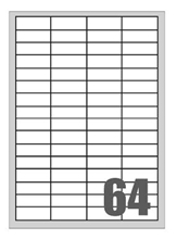 Slika od SAMOLJEPLJIVE etikete Megastar 48,5x16,9 mm – 64 na listu