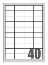 Picture of Self-adhesive labels Megastar 48,5x25,4 mm – 60 per sheet
