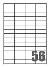 Picture of Self-adhesive labels Megastar 52,5x21,2 mm – 56 per sheet