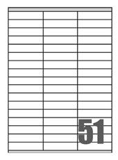 Picture of Self-adhesive labels Megastar 70x16,9 mm – 51 per sheet