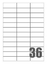 Slika od SAMOLJEPLJIVE etikete Megastar 70x25 mm – 36 na listu