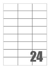 Picture of Self-adhesive labels Megastar 70x37 mm – 24 per sheet
