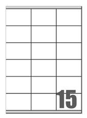 Picture of Self-adhesive labels Megastar 70x50,8 mm – 15 per sheet