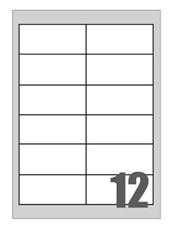 Picture of Self-adhesive labels Megastar 97x42,3 mm – 12 per sheet