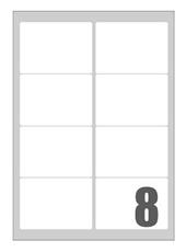 Picture of Self-adhesive labels Megastar 99x67 mm – 8 per sheet