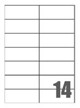 Slika od SAMOLJEPLJIVE etikete Megastar 105x42,3 mm mm – 14 na listu