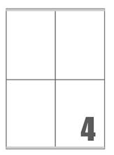 Slika od SAMOLJEPLJIVE etikete Megastar 105x140 mm – 4 na listu