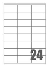 Slika SAMOLEPILNE ETIKETE FLOURESCENTNE 70X36-24 NA LISTU
