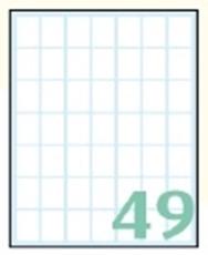Slika SAMOLEPILNE ETIKETE EXPORT 19X14 MM-10 LISTOV, 49 NA LISTU