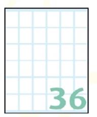 Slika SAMOLEPILNE ETIKETE EXPORT 23X18 MM-10 LISTOV, 36 NA LISTU