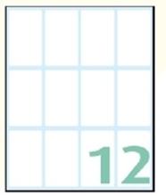 Slika od SAMOLJEPLJIVE etikete Export 48x28 mm – 10 listova, 12 na listu