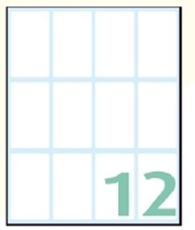 Slika SAMOLEPILNE ETIKETE EXPORT 48X28 MM-10 LISTOV, 12 NA LISTU