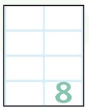 Slika od SAMOLJEPLJIVE etikete Export 58x36 mm – 10 listova, 8 na listu