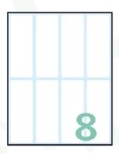 Slika od SAMOLJEPLJIVE etikete Export 75x27 mm – 10 listova, 8 na listu