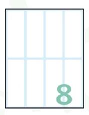 Slika SAMOLEPILNE ETIKETE EXPORT 75X27 MM-10 LISTOV, 8 NA LISTU