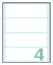 Slika od SAMOLJEPLJIVE etikete Export 110x35 mm – 10 listova, 4 na listu