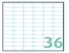 Slika OFFICE samoljepljive etikete 48x08