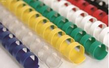 Slika od PLASTIČNA SPIRALA za uvez 18 mm – crvena