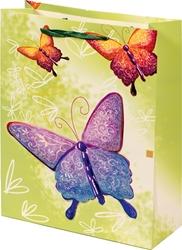 Picture of DECORATIVE BAGS butterflies 3D glitter large 30x43x10, 5 cm