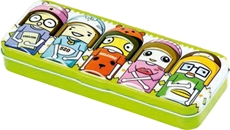 Picture of METAL PENCIL CASE Happy face 21x8,2x3,2 cm