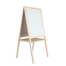 Slika od Bijelo/zelena ploča s drvenim okvirom 52x62cm