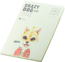 Picture of CRAZY DOG BILJEŽNICA B5 CRTE