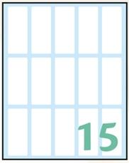 Slika WHITE samoljepljive etikete 48x20