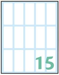 Picture of WHITE samoljepljive etikete 48x20