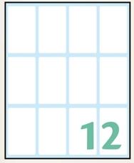 Slika WHITE samoljepljive etikete 48x28