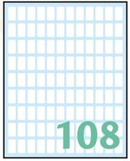 Slika WHITE samoljepljive etikete 14x8