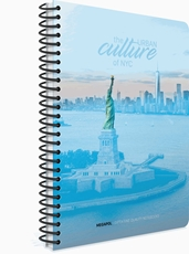 Picture of MEGAPOL SPIRAL NOTEBOOK A4 SQUARED