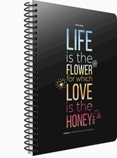 Picture of LIFE BOOK SPIRAL NOTEBOOK 19x26 LINES