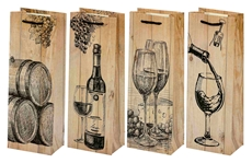 Picture of WOOD GIFT BAG FOR BOTTLE