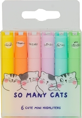 Slika M&G SO MANY CATS MINI FLUO MARKER PASTEL 1/6