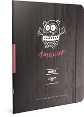 Picture of COFFE BOOK NOTEBOOK A4 LINES