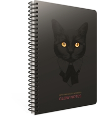 Picture of GLOW NOTES SPIRAL NOTEBOOK A4 LINES