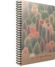 Picture of SIGNATURE SPIRAL NOTEBOOK A4 LINES