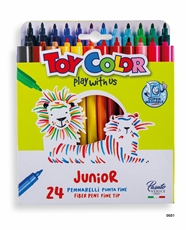 Slika od TOY COLOR JUNIOR lakoperivi flomaster 1-24
