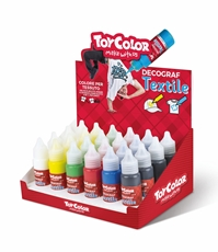 Slika od TOY COLOR tekstil decograf 25 ml – stalak 30 kom
