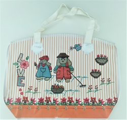 Picture of DECORATIVE eco BAG with zipper large 28x38x10.8 cm