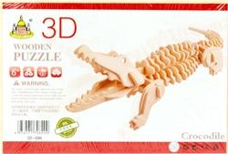 Slika od KROKODIL 3D DRVENE PUZZLE