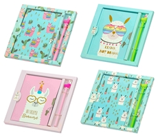 Picture of LLAMA MEMORIES NOTEBOOK WITH LOCK AND PEN