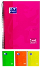 Picture of OXFORD NEON 5 SPIRAL NOTEBOOK LINES